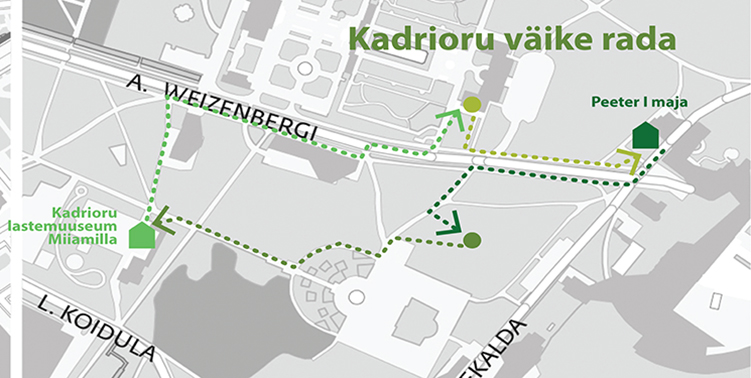 linnamuuseumi muuseumid kadrioru kaardil