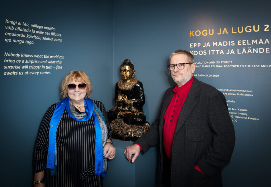 """Kogujad näituse """"Kogu ja lugu 2. Epp ja Madis Eelmaa: koos itta ja läände"""" avamisel"""