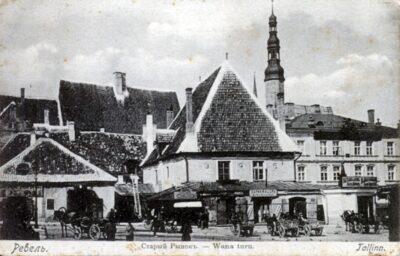 Ратушная площадь Таллинна, 1905 год